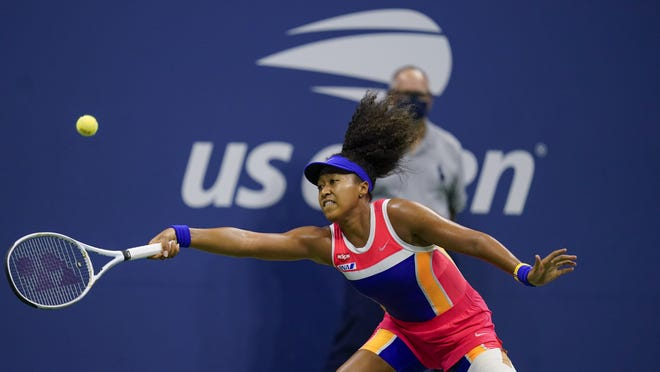 Naomi Osaka, who is 10-0 since the sport returned, relies mainly on her big forehand.