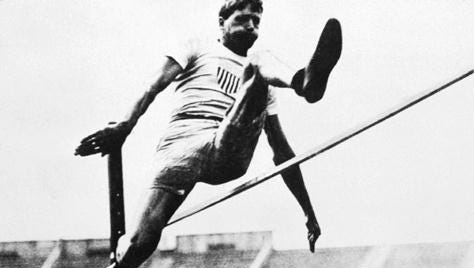Lafayette native Ray Ewry  won 10 gold medals in Olympics held between 1900 and 1908.