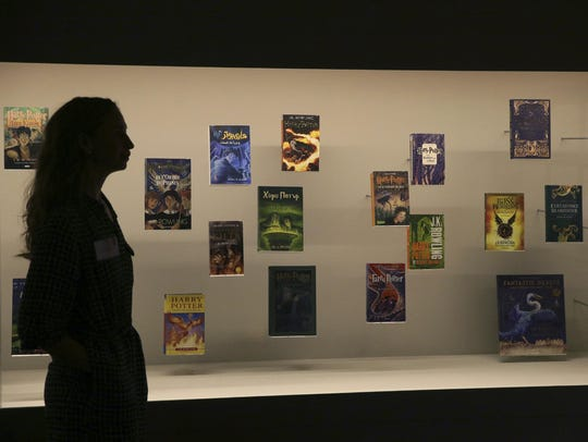 """Shown is the """"Harry Potter - A History of Magic"""" exhibition"""