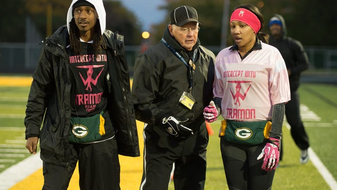 Packers defensive back Tramon Williams and his wife, Shantrell, during last year's Powder Puff game.
