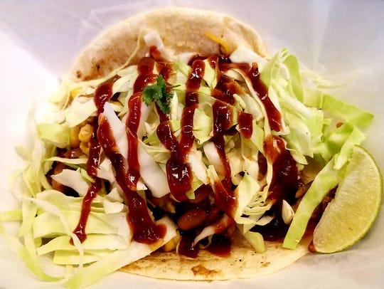 Taco Shack's Cowboy Taco was a six-inchflour tortilla