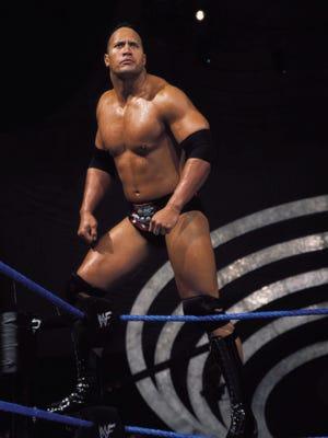 "Dwayne ""The Rock"" Johnson in the wrestling ring."