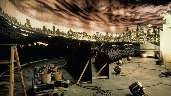 """A cyclorama painting used on the set of """"Ghostbusters."""""""