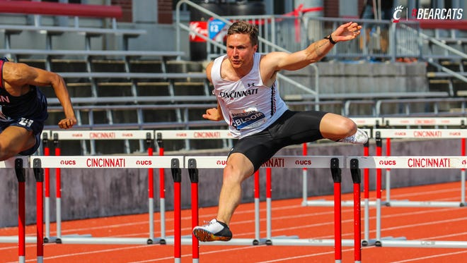 University of Cincinnati senior Alex Bloom (Seymour, Wisc.) defended his decathlon championship in the American Athletic Conference Outdoor Track & Field Championships this past weekend at UC.