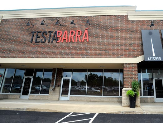 This is the front exterior of the newly opened Testa