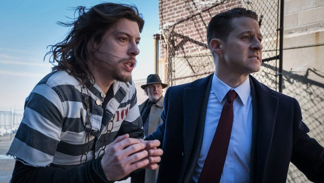 Benedict Samuel, Donal Logue and Ben McKenzie in the second half of the two-hour season finale episode of 'Gotham.'