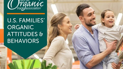 A new survey shows that Millennials are big buyers of organic and becoming a parent will deepen the affinity for organic.