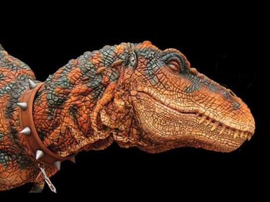 Rexie the Tyrannosaurus rex will roam the fairgrounds