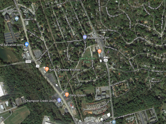 Jake Rusher Park is in South Asheville on Peachtree