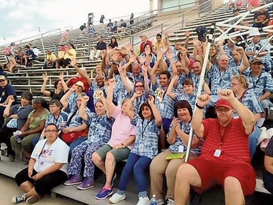 The Carlsbad delegation at the Special Olympics Summer Games May 29-31 in Albuquerque.