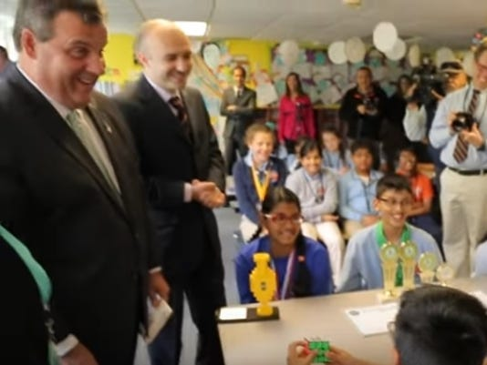 Christie at charter school