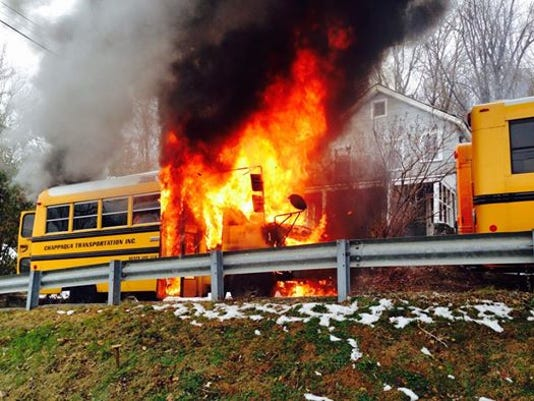 Chappaqua schoool bus fire