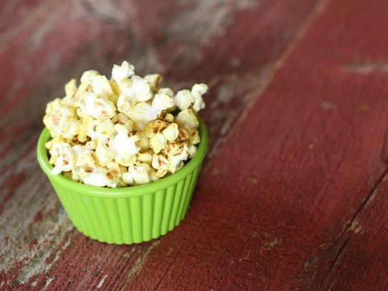 Coconut Curry Popcorn is a savory treat. (Photo: Anna Thomas Bates)