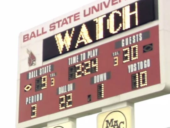The score, before Ball State's 2-point converstion,