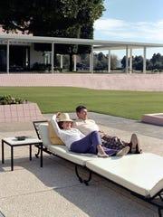 Nancy and Ronald Reagan relax at Sunnylands.