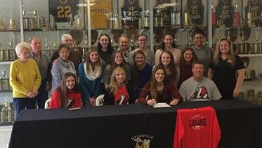 Hayesville senior Maddie Payne has signed to play college softball and volleyball for LaGrange (Ga.).