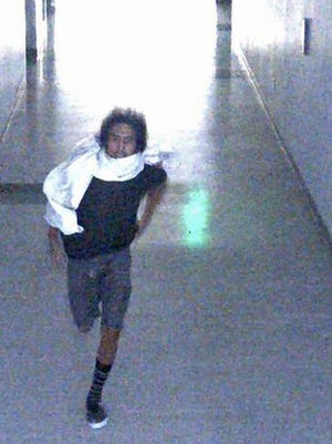 Farmington police have released this image of a man suspected of vandalizing Farmington High School over the weekend.