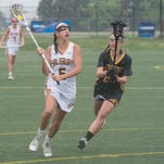 Salisbury University's Emma Wall makes a play in the offensive zone during game against Colorado College on Saturday, May 21, 2016.