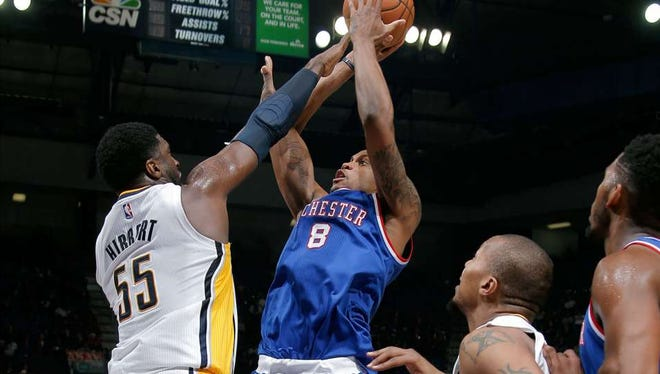 Roy Hibbert contested Rudy Gay in earlier moments in the game. But his help defense in overtime led to a Pacers' loss.