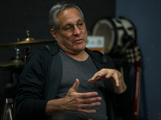Drummer Max Weinberg stops by Lakehouse Music Academy and talks with aspiring musicians about his long successful career. on Friday, Jan 6, 2017.