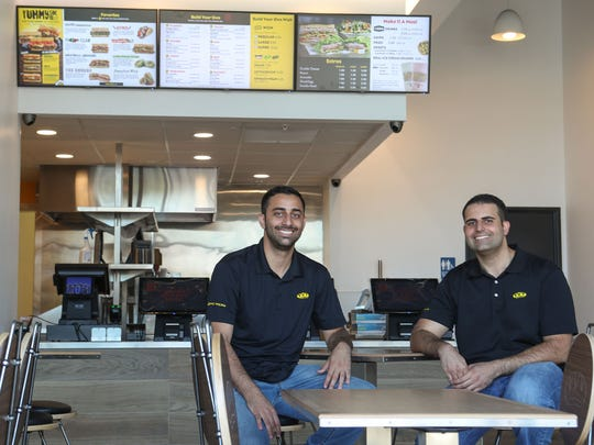 Two Coachella Valley locals and brothers George and Jon Kasira recently opened a Which Wich sandwich shop in Palm Desert, May 15, 2018.