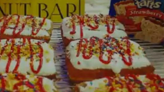 A California donut shop is offering a donut stuffed with a pop tart.