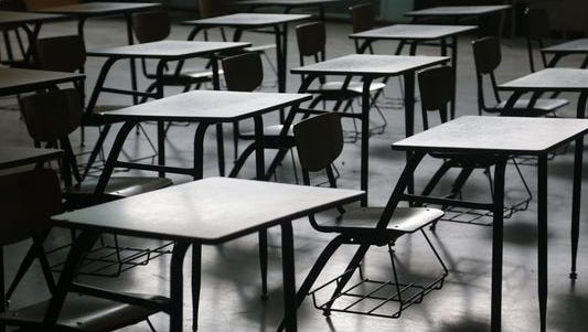 File photo of school desks
