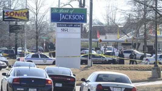Two people were shot Monday morning in a domestic murder-suicide at Bank of Jackson on University Parkway. Police said David Laster shot himself after shooting Virginia Dorris inside the bank.