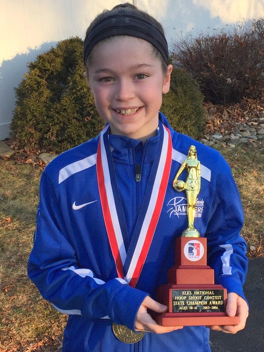 Elmira girl wins state title -foul shooting