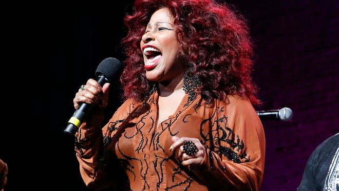 "In this Oct. 24, 2014, file photo, Chaka Khan performs at the 13th annual ""A Great Night in Harlem"" gala concert in New York. Chaka Khan and her sister have both entered a drug rehabilitation program to battle their addiction to prescription drugs. In a statement released, Sunday, July 10, 2016, Khan said she has been battling with an addiction to he same medication that led to Prince ™s death last April."