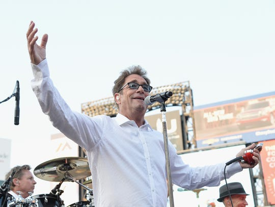 Huey Lewis of the band Huey Lewis & the News performs