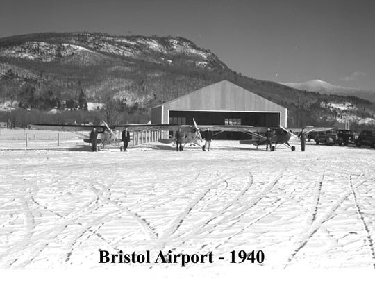 The Bristol Airport in the winter of 1940.