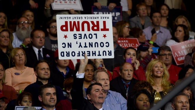 A Trump rally in Fayetteville, N.C., on December 6, 2016.