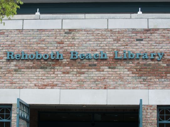 The Rehoboth Beach Library in downtown Rehoboth.