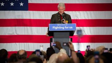 Presidential candidate Senator Bernie Sanders speaks to an estimated 5,000 people during a rally at Vado Elementary School in Vado, NM, May 21, 2016.
