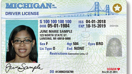 A sample driver's license for limited-term that is currently used by legal immigrants with temporary legal status. The star in upper-right is for the REAL ID program by the Dept. of Homeland Security.
