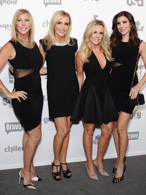 Vicki Gunvalson, Shannon Beador, Tamra Judge, and Heather Dubrow attend the 2015 NBCUniversal Cable Entertainment Upfront at The Jacob K. Javits Convention Center on May 14, 2015 in New York.