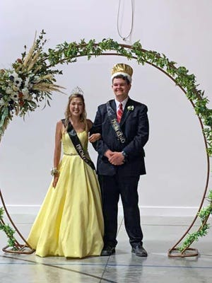 Abby Young and Justin Luster were crowned as Bunceton High School Prom King and Queen on June 13 at the Zion Activity Center in Lone Elm.