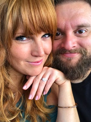 Cassie Young and her fiancé. Credit: Cassie Young