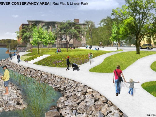An illustration of proposed changes to Wisconsin Rapids'