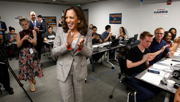 Kamala Harris thanks supporters who worked a phone