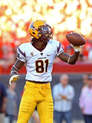 Nov 28, 2014: Arizona State Sun Devils wide receiver Gary Chambers (81) against the Arizona Wildcats during the 88th annual territorial cup at Arizona Stadium.