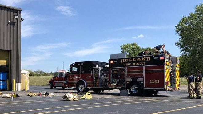 Holland firefighters responded Saturday, Aug. 22, to Sekisui Kydex, to extinguish a machine blaze.