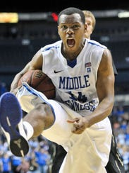 MTSU standout Marcos Knight helped fuel the team's 2011-12 run.