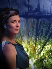 "Janet Haley plays Jaques in ""As You Like It,"" one of"