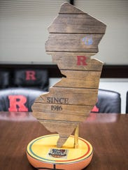 The Boardwalk Trophy, which goes to the winner of Rutgers-Seton