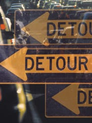 Sussex County road closures will require motorists to follow detour signs.