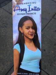 Amy Inita Joyner-Francis, 16, died after an assault