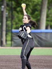 Cedar Grove star pitcher Mia Faieta threw four perfect