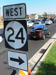 Local, resort and commercial traffic constantly snarl Route 24 and Route 113 through Millsboro.
